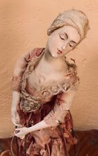 Antique 1920's French Half Doll Boudoir Lamp * Beautiful Face and Hands * Shabby