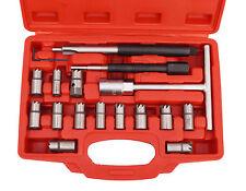 10 Piezas Escariador de Asiento de Inyectores Set de Cortador Diesel Escariador para Asientos de Inyectores