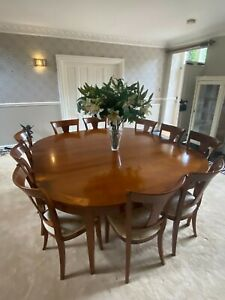 Grange extending dining table and 10 chairs