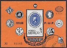 Mexico, 1968 EFIMEX Int'l Philatelic Exhibition Used S/S, Sc# C345 - ow397