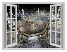 3D Islamic Hajj Makkah Window Poster Wall Sticker Art Vinyl Decal Decor Mural