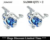 Qty = 2 AU STOCK Metal 12BB Bearing Saltwater Spinning Drag Fishing Reels SA3000