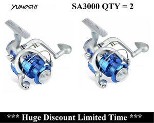 Qty = 2 AU STOCK Metal 12BB Bearing Saltwater Spinning Drag Fishing Reels SA3000
