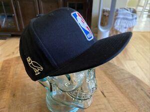 RARE Drake OVO X Mitchell & Ness NBA Toronto Raptors Black Snapback Hat | Gold T