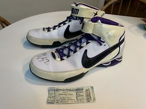 Brad Miller Game Worn Shoes Autographed Sacramento Kings Chicago Bulls Purdue