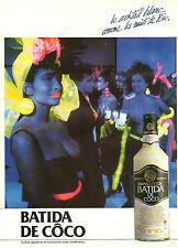Publicité Advertising 1985  BATIDA DE COCO recette du Brésil  Liqueur