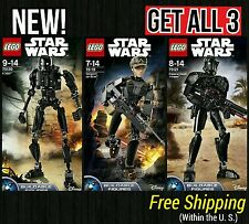 LEGO Star Wars Rogue One Lot of 3-75119, 75120, 75131 Buildable Figures NEW