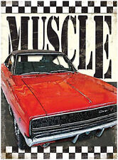 Muscle Car, Dodge Charger, American Retro Car Garage Old, Large Metal/Tin Sign