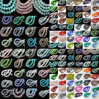 100Pcs Faceted Rondelle Glass Crystal Loose Spacer Beads Jewelry Findings 4x3mm