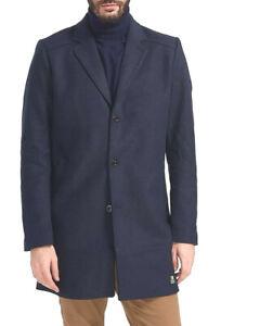 Mens Tom Tailor Sz XXL Navy Blue Wool Blend Car Coat