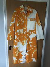 Dries Van Noten Riguel orange printed cotton Twill coat, Small