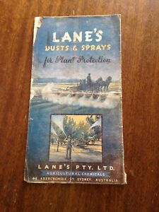 Vintage Lanes dusts and sprays for plant protection leaflet circa 1940s