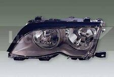 For BMW 3 Saloon Estate 98-05 Lucas RH Black Headlight- Screw Connection -LWB480