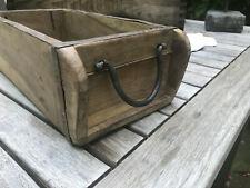 alte Ziegelform Holzkiste Griff aus Metall Vintage Shabby Landhaus Aufbewahrung