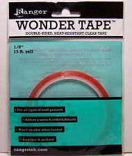 "Ranger Wonder Tape Double-Sided, Heat Resistant Clear Tape 1/8"" 15ft Roll"