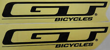 GT Bicycles Decal Sticker BMX Black Pair Park Street Racing  Bike 6 3/4 x 1 3/8