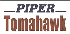 A157 Piper Tomahawk Airplane banner hangar garage decor Aircraft signs