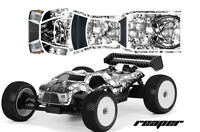 RC Body Graphics Kit Decal Sticker Wrap For Proline Bulldog MBX6-T REAPER WHITE
