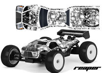 AMR RACING RC GRAPHICS SKINS DECAL KIT MUGEN PROLINE BODY MBX6T GRIM REAPER WHT