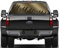 Carbon Brown Gold Rear Window Graphic Decal Truck SUV Vans