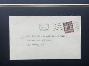 GB 1929 UPU Congress First Day Cover addressed to Sir Nicholas Waterhouse K.B.E