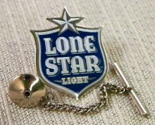 Lone Star Light Beer Tie Tack Pin and Chain Clasp
