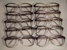Vintage 10 Pc. Lot Elite Max Grey Fade 54/20 Eyeglass Frame New Old Stock #S20
