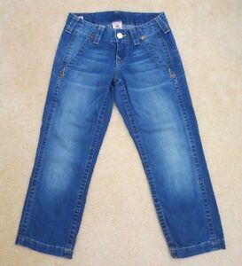 True Religion Femmes Capri Jeans Court Taille 25 Courtney Pantalon Basse