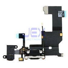 Black Charging Port/dock Microphone Headphone jack Flex Cable for Iphone 5/5G