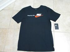 """Nike Mens T Shirt (Athletic Fit) Med Nwt $25 Black W/""""Swoosh By Nike"""" Very Cool!"""