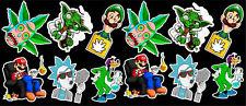 12 Cannabis Marijuana Weed  Parody Vinyl Stickers