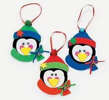 3 Penguin Foam Ornaments Craft Kit Christmas Gift Kid