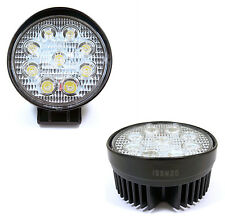 2 x 27W High Output Flood LED Lights 4.3 Inch Round Off Road Baja Bar Lighting
