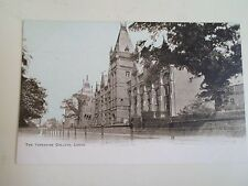 G221 Vintage Colour Tinted Postcard THE YORKSHIRE COLLEGE, LEEDS Dainty Series