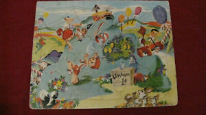 Vintage 1950s Built-Rite Sta-N-Place Childs Tray Puzzle #2