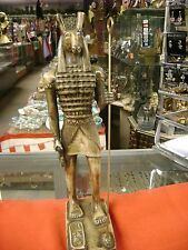Amazing Vintage Egyptian God Seth Statue Hand Carved  1977 Made in Egypt