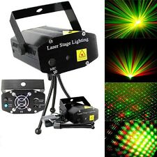 Black Mini Projector DJ Disco Light Stage R&G Party Laser Lighting Show Plug