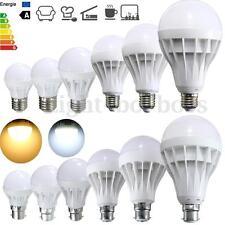 E27 B22 Energy Saving LED Bulb Globe Light Lamp 3/5/7/9/12/15W White AC220V-240V