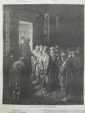 Gustave Dore London A Pilgrimage Refuge Applying For Admittance Engraving 1872