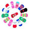 4Pcs Assorted Pattern Pet Dogs Puppy Cat Non-Slip Shoes Slippers Socks Random