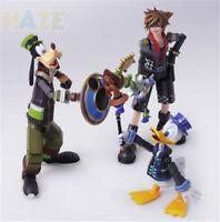 Bring Arts Kingdom Hearts 2 Sora Donald Duck Goofy Figure Assembly Toy No Box