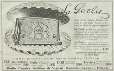 Y2070 Radio Crosley Italiana - La Perla - Pubblicità del 1933 - Old advertising