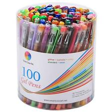 Pack of 100 Gel Pens Set with Metallic. Neon, Glitter and Pastel Finish Colors