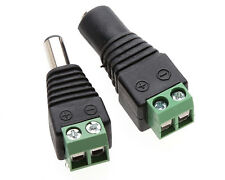 Female+Male Plug 12V DC Power Jack Connector Cable Adapter for CCTV Camera EV