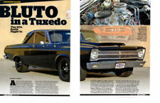 1965 PLYMOUTH BELVEDERE 413 MAX WEDGE V-8 ~ GREAT 4-PAGE ARTICLE / AD