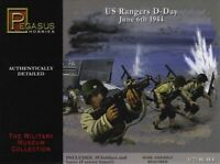 Pegasus 7351 WWII US Army Rangers D-Day 1/72 Scale Plastic Model Figures