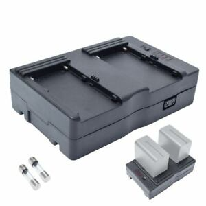 NP-F550 NP-F570 Battery to V-Mount Battery Converter Power Adapter fr LED Studio
