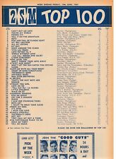 2SM #66 National Top 100 music chart Jun 19 1964 Shirley Bassey The Beatles Oz