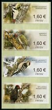 Aland 2019 MNH Woodpeckers Franking Labels 4v S/A Set Woodpecker Birds Stamps