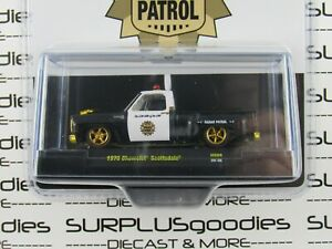 M2 Machines 2020 HS08 1976 CHEVROLET SCOTTSDALE Low Arm of the Law Police CHASE